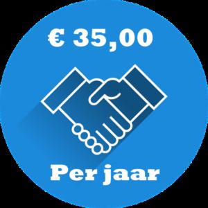 KEURMERK 35 EURO PER JAAR